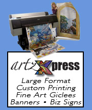 Go to artzXpress for custom printing for business or residential.
