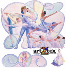 Mural Collage of Ballet Dancers.