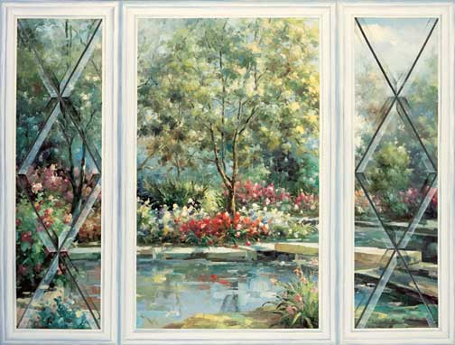 Imaginative mural pages by trisha selgrath template for Mural garden