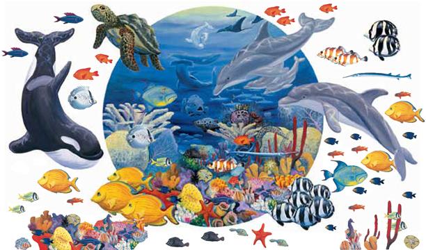 Under The Sea Mural Enlargement Part 72